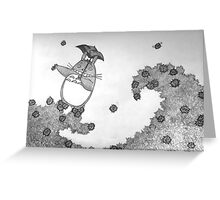 Away on a wave of soot Greeting Card