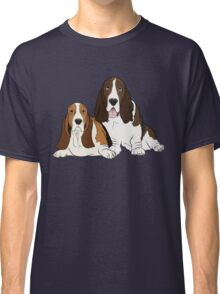 Two Bassets  Classic T-Shirt