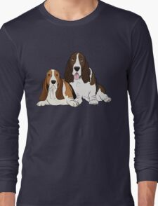 Two Bassets  Long Sleeve T-Shirt
