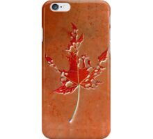 Somebody had Leaf for Lunch - Rust iPhone Case/Skin