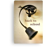 Back to school 2 Canvas Print