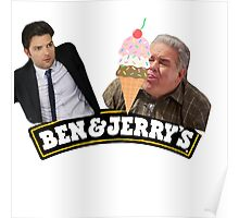 BEN AND JERRY'S ICE CREAM (PARKS AND REC) Poster