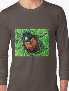 Japanese Beetle on Leaf Long Sleeve T-Shirt