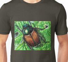 Japanese Beetle on Leaf Unisex T-Shirt