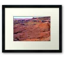 The Lone Butte Framed Print