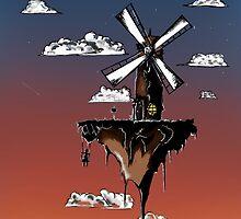 Floating Windmill by Amazor