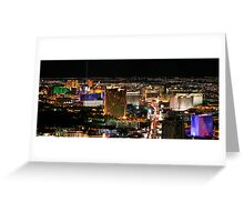 Las Vegas as seen from The Stratosphere Greeting Card