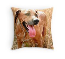 Mina in the field Throw Pillow