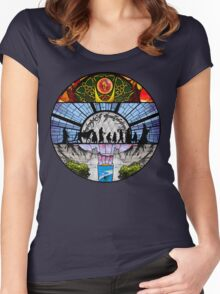Lord of the Rings - Stained Glass Women's Fitted Scoop T-Shirt