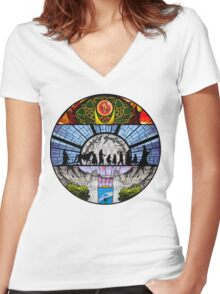 Lord of the Rings - Stained Glass Women's Fitted V-Neck T-Shirt
