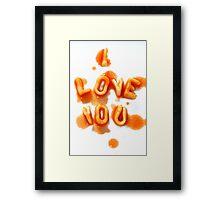 Spaghetti Love Framed Print