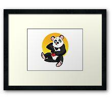 Sweet panda Framed Print
