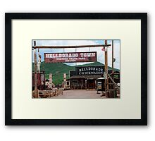 Tombstone the Town too tough to Die Framed Print