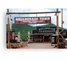 Tombstone the Town too tough to Die Canvas Print