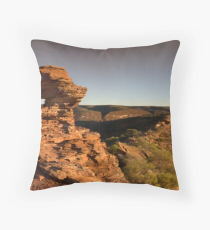 Nature's Window Panorama Throw Pillow