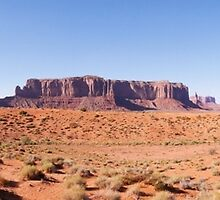 Monument Valley Panorama by BRENDA KEAN