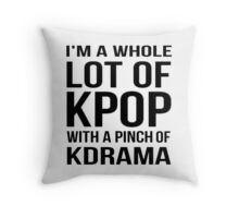 A LOT OF KPOP - WHITE Throw Pillow