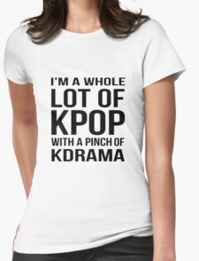 A LOT OF KPOP - WHITE Womens Fitted T-Shirt
