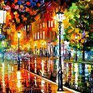 Street Of Illusions — Buy Now Link - www.etsy.com/listing/226633113 by Leonid  Afremov