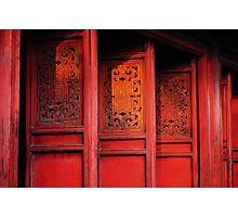Red Doors Photographic Print