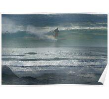 Surfing Gold Coast Australia Poster