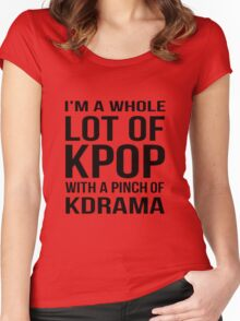 A LOT OF KPOP - RED Women's Fitted Scoop T-Shirt