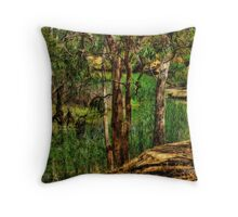 Weedy River Throw Pillow