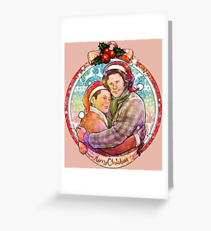Christmas Brothers Greeting Card