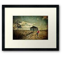 He Walks In The Dream Framed Print