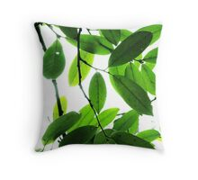 Fresh Green Leaves Throw Pillow