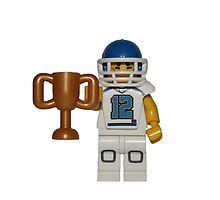 LEGO American Footballer with a Trophy by jenni460