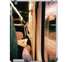 Man on train - Lomo LCA xpro lomographic analog 35mm film iPad Case/Skin