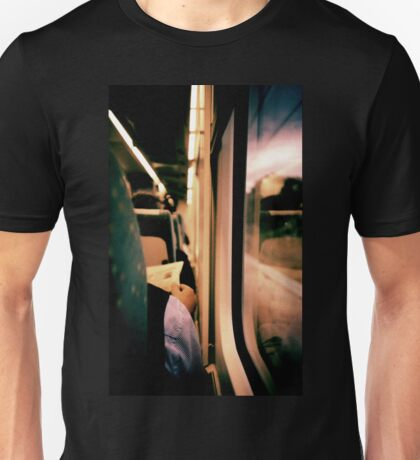 Man on train - Lomo LCA xpro lomographic analog 35mm film Unisex T-Shirt