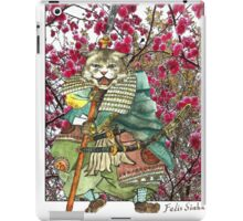 A Halfing Samurai Cat with a Spear and 2 Swords iPad Case/Skin