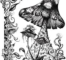 Mushroom Gully by RedSparrow