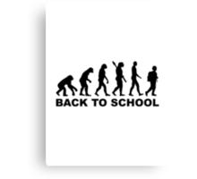 Evolution Back to school Canvas Print