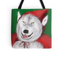 Red Wolf Riding Hood Tote Bag