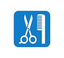 Scissors comb icon Photographic Print
