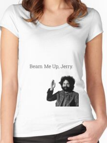Beam me up, Jerry. (clean) Women's Fitted Scoop T-Shirt