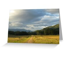 Country Road on way to Mann River Nature Reserve Greeting Card