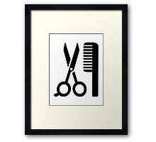Comb scissors Framed Print