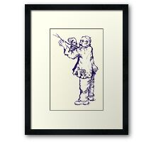 "Anecdote (""Fool on the hill..."") Framed Print"