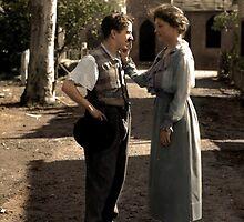 Helen Keller meeting Charlie Chaplin in 1920 by Mads Madsen