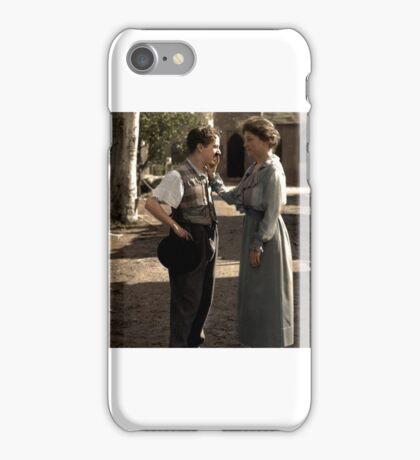 Helen Keller meeting Charlie Chaplin in 1920 iPhone Case/Skin
