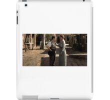 Helen Keller meeting Charlie Chaplin in 1920 iPad Case/Skin
