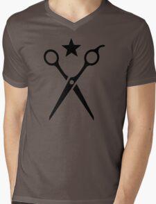 Hairstyler scissors Mens V-Neck T-Shirt