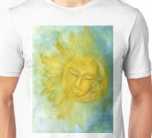 Sun and Moon Watercolor Painting Unisex T-Shirt
