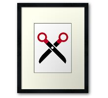 Scissors symbol Framed Print