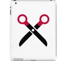 Scissors symbol iPad Case/Skin