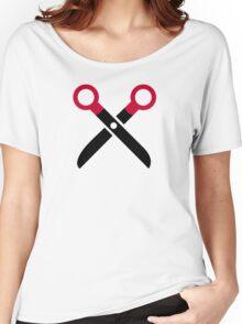 Scissors symbol Women's Relaxed Fit T-Shirt